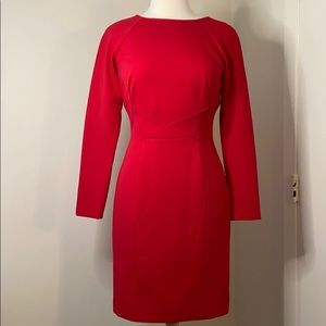 Tahari Artur s. Levine red dress s4
